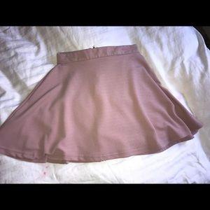 Rose gold skater skirt